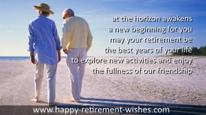 retirement sayings good friend