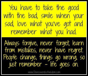 smile when your sad