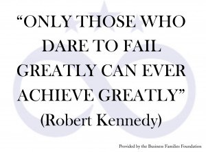 Quote by Robert Kennedy provided by the Business Families Foundation
