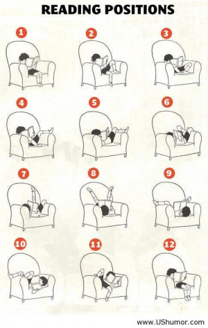 About funny reading positions US Humor - Funny pictures, Quotes, Pics ...