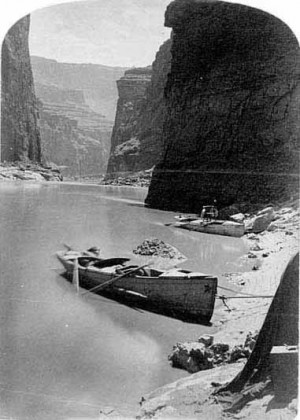 Photo: Historic shot from John Wesley Powell's second expedition