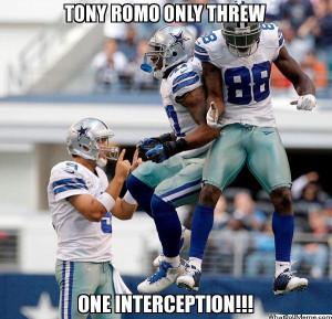 Tony Romo Only Threw…