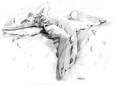 Fallen Angel Drawings Prints - Fallen Out Of Love Prints by Karen ...