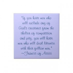 St. Francis of Assisi Compassion Quote Oval Stickers