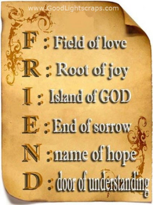 Meaning Of Friendship