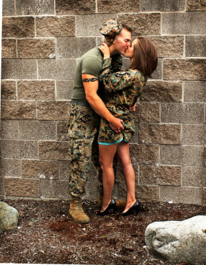 ... his girl. So cute! Love how the camo works well with the wall/ground