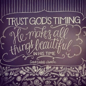 Trust in God's timing