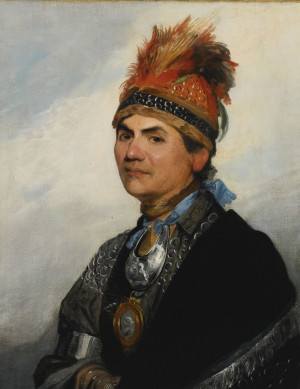 Gilbert Stuart: Portrait of Mohawk Chieftain Thayendanegea just now ...