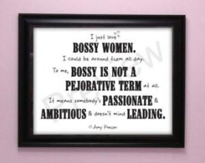 Bossy Women Quote Amy Poehler Femin ist Art Digital Print Instant ...