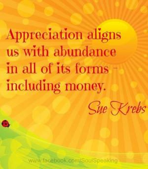 Appreciation quotes sayings abundance money
