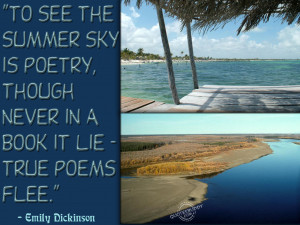 see the summer sky is poetry though never in a book it lie true poems ...