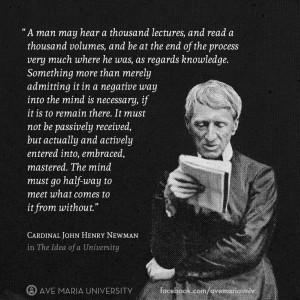 From Cardinal John Henry Newman's