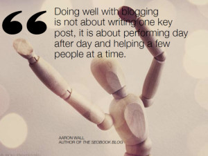 ... about performing day after day and helping a few people at a time