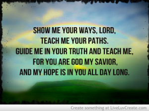 cute, inspirational, psalm 25, quote, quotes