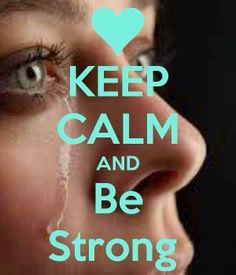 but sometimes it's o.k to cry and let your guard down just don't let ...