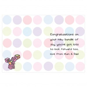 Baby Cards. New Baby Card Sayings. View Original . [Updated on 01/28 ...