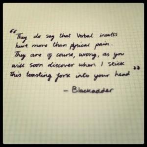 black adder quotes