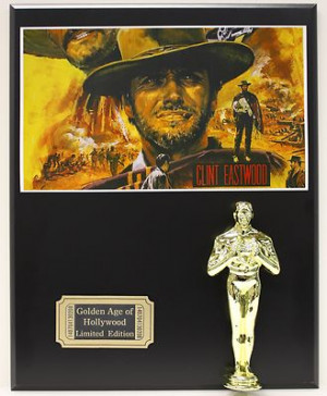 ... clint eastwood western oscar movie display movie poster commemorative