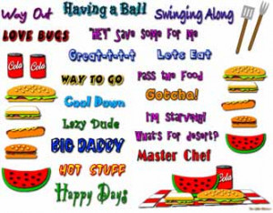 Summertime Fun Clip Art & Sayings