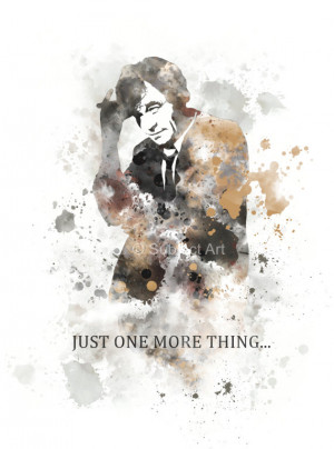 Columbo Quote, Peter Falk ART PRINT illustration, Wall Art, Home Decor ...
