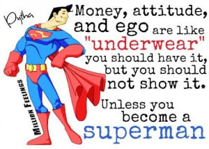 Money Attitude and Ego are like underwear