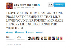 Lil Snupe Quotes Quote. lil b with the