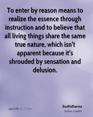 Bodhidharma Nature Quotes