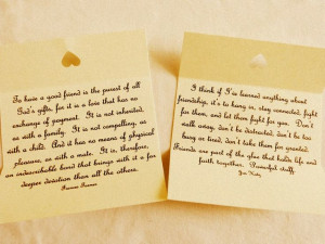 Handmade Quotes - Friendship Quotes - Box of 50 Quotations 'To have a ...