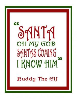 Buddy The Elf Christmas Art Print Christmas Decor by SamIamArt, $7.50