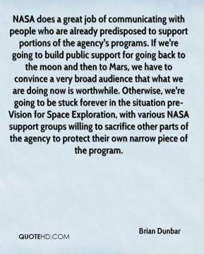 ... Space Exploration, with various NASA support groups willing to
