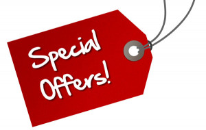 Special Offers Aren't Just For Christmas.....