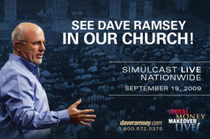 ... Dave Ramsey's business is an unholy alliance of business and church