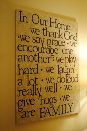 Family Quote Art