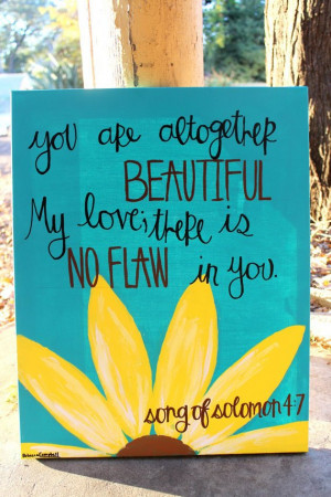 Cute Canvas Painting Quotes Song of solomon painting with