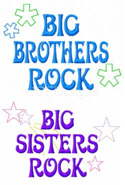 Home :: Baby/Toddler Sayings :: Big Brothers - Big Sisters Rock! 2 ...