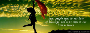 Some people come in our lives as blessings - Life Quote FB Cover
