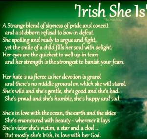 IRISH SHE IS