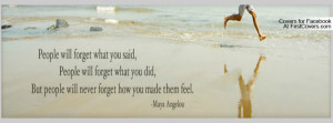Maya Angelou quote Profile Facebook Covers