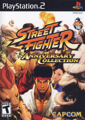 Street Fighter Anniversary Collection Box Art - Front and Back