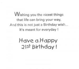 21st Birthday Card Twenty First Birthday Wishes