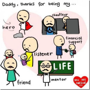 Dad thanks for being my hero