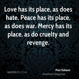 Meir Kahane War Quotes