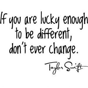 Famous Quotes - Taylor Swift Quote - Different - Wall Stickz - Vinyl W ...