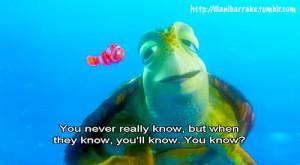 ... the sea turtle, Crush,