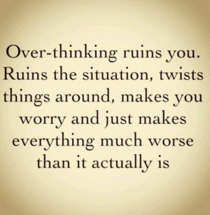 Don't over-think it...