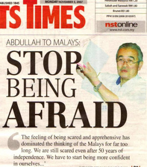 Pak Lah's Compendium of Flowery Slogans and Quotes