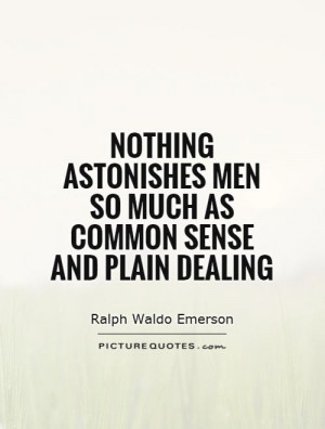 Common Sense Quotes Ralph Waldo Emerson Quotes