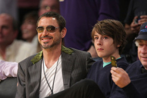 downey jr l and his robert downey jr son indio