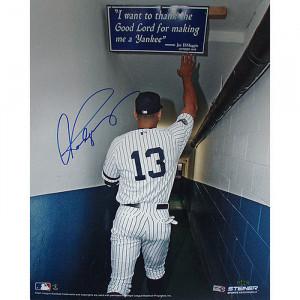 Alex Rodriguez Touching Joe DiMaggio Quote In Yankee Stadium 16x20
