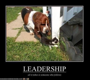 All Is Takes Is Someone Who Follows ~ Leadership Quote